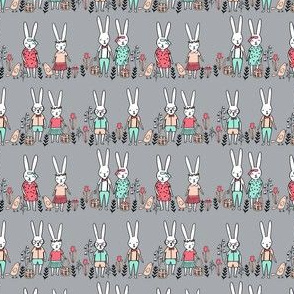 easter egg hunt // tiny bunnies cute baby nursery kids spring flowers