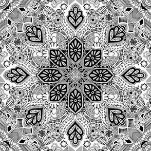 Gypsy Lace Monochrome Doodle