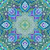 Peacock Summer Mandala Doodle Pattern