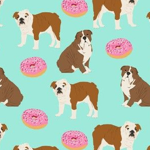 english bulldog bulldogs mint donuts sweet food bulldogs english bulldogs pet dog pets dogs puppy