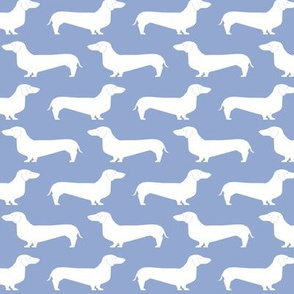 dachshunds blue silhouette dog dogs pet dogs cute blue nursery baby periwinkle sweet pastel dog
