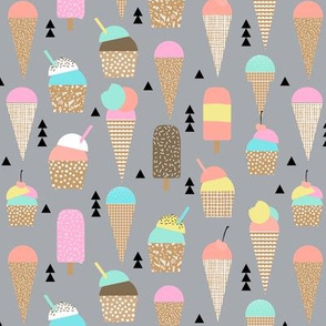 ice creams ice cream cone sweets summer tropical kids pastel
