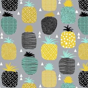 tropical pineapple fruit hawaii geometric triangle