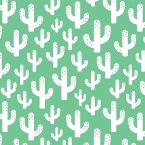 Cactus garden cool trendy summer design for kids in green