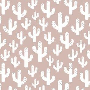 Cactus garden cool trendy summer design for kids in gender neutral white beige