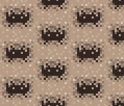 Retro space invaders fabric lydesign spoonflower for Vintage space fabric