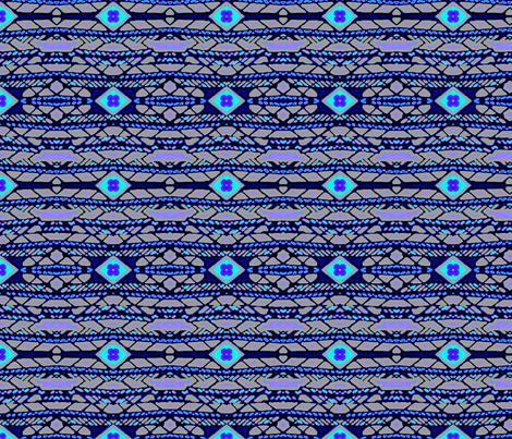 Horizontal Tribal Stripe (midnight)