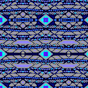 Horizontal Tribal Stripe (midnight)