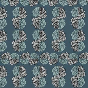 rose plaid - storm
