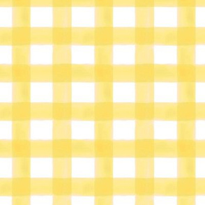 Reduced Scale Watercolor Gingham in Sunshine