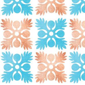 Hawaiian Watercolor Breadfruit Quilt Pattern