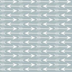 Arrows White on Grey