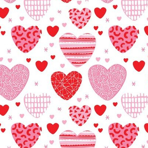 Cute hearts love and romantic wedding theme for kids and lovers valentine pink red