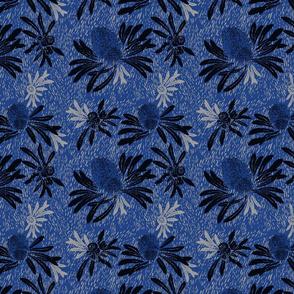 banksia bark - ocean blue