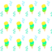 Summer Whimsy Ice Cream- Blue