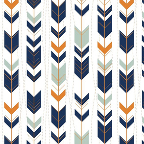 tribal arrows // bear camp orange