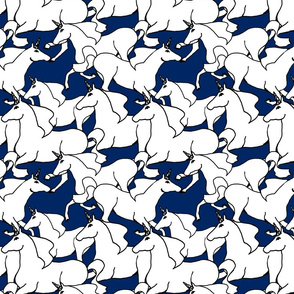 Unicorn Stampede Navy White