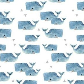 Smaller Whale Pod with Triangles