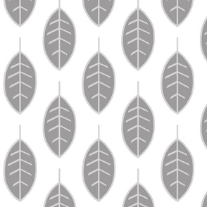 Leaves-silver/grey/white