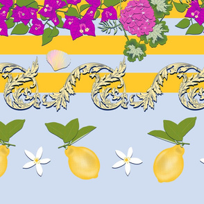 Capri Border Yellow (Vertical)