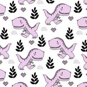 T-Rex Dinos in Purple