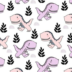 T-Rex Dinos in Pink and Purple
