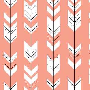 Fletching arrows // coral
