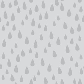 Dancing in the Rain - Grey Raindrops