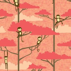 Treetop Monkeys at Sunset