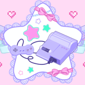 Retro Lolita Gamer Ribbons and Stars