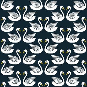 Swans on Midnight
