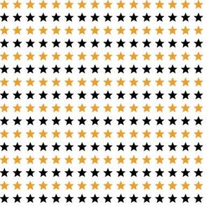 Orange and black stars