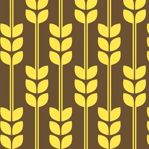 1970s Wheat in Yellow on Brown