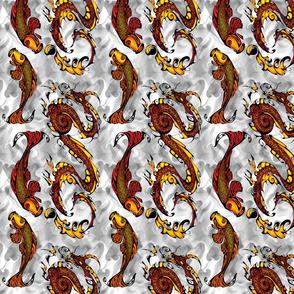 NIB Dragon and Koi - Red Dragon Adjustment (smallscale)
