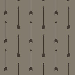 Long Arrows- Dark Brown/Taupe