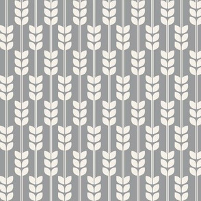 Wheat - Cream on Grey, small