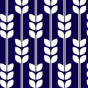 Wheat - White on Navy