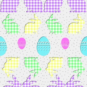 A Colourful Gingham Easter