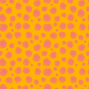 Raspberry Spots Pink on Orange