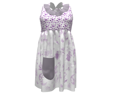 Dapper Dots that Match Lavender Toile