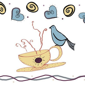 Early Riser birds and coffee cups