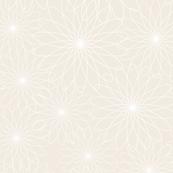 Spirograph Flowers Cream