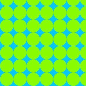 Op Art Circles Turq/Green