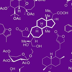 Molecules - Purple - Large