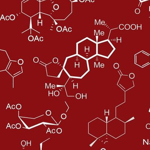 Molecules - Red - Large
