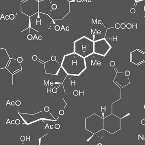 Molecules - Grey - Large