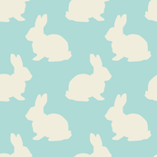 Bunnies Easter Fabric