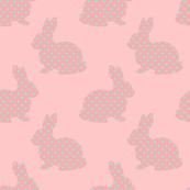 Aqua Dotted Bunnies