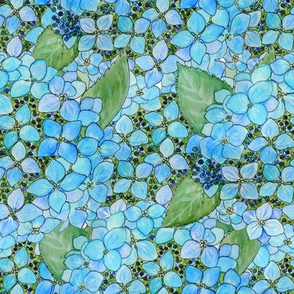 Watercolor hydrangea garden