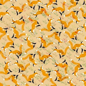 Camouflaged Foxes Orange